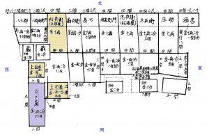 寛政元(1789)年「表長屋貸地麁絵図」(伊能忠敬記念館122-7)